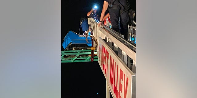 The incident occurred at Western Playland Amusement Park on Saturday night.