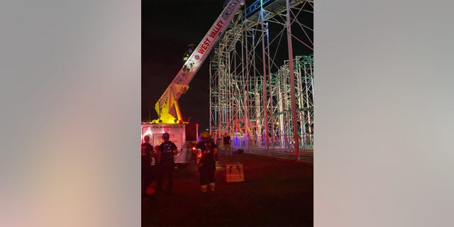 The West Valley Fire Department wrote that everyone was rescued before storms rolled in.