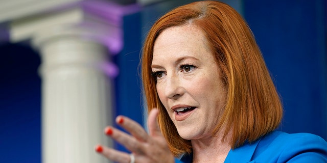 White House press secretary Jen Psaki speaks during the daily briefing at the White House in Washington, Tuesday, July 27, 2021. (AP Photo/Susan Walsh)
