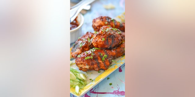 Whatever of the barbecue sauce that isn't used on the chicken drumsticks can be stored in the fridge and used on other dishes for up to two months, Verma writes on her blog.