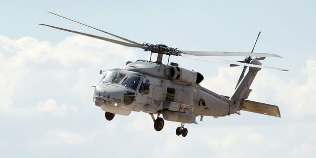 A Blackhawk helicopter UH-60. Somali militiamen shot down multiple Blackhawk helicopters during Operation Gothic Serpent in 1993.
