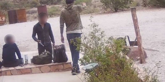 Three armed undocumented migrants, who appear to be males, were encountered in Hudspeth County, Texas, on Tuesday after allegedly breaking into a ranch house and stealing two loaded handguns, ammo and other items.