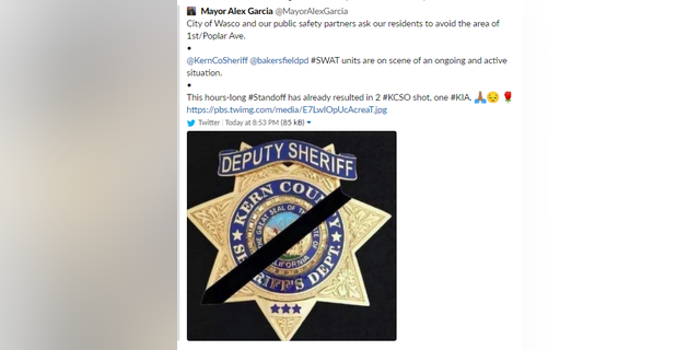 The mayor said in a now-deleted tweet that one deputy had died.