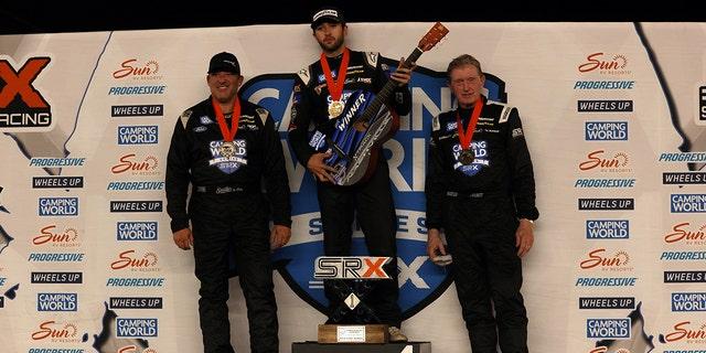 Chase Elliott, Tony Stewart and Bill Elliott were the top three finishers in the SRX Nashville race.