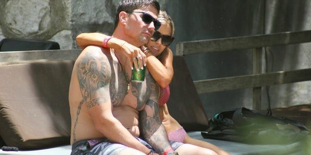 Joshua Hall and Christina Haack during their vacation in Mexico. (MEGA)