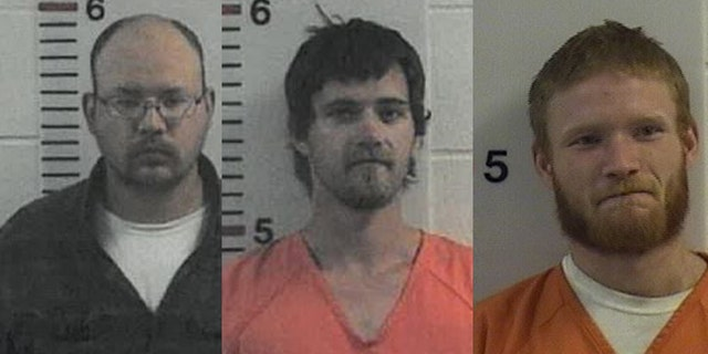 Investigators zeroed in on three suspects -- (from left to right) Alex Nathaniel Davis, 30, Austin Johnson, 23, and Kaelin Hutchinson, 24.