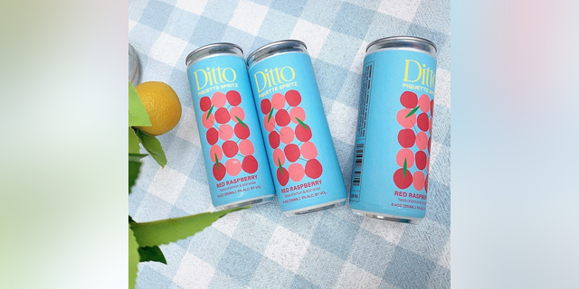 Ditto Piquette Spritz is made with upcycled grapes. (Courtesy of Ditto Piquette)