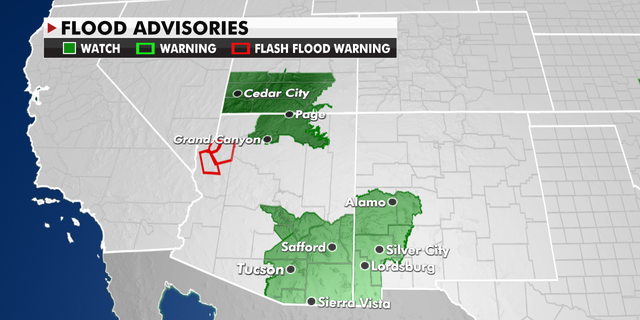 Flood advisories in the Four Corners region