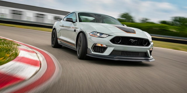 The 2021 Mustang Mach 1 is equipped with the most powerful version of Ford's 5.0-liter V8 ever offered.