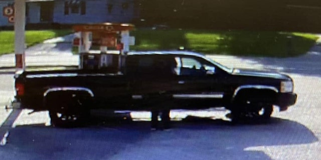 James W. Gentry may be traveling in this pickup truck or a gold Buick Regal, police say.