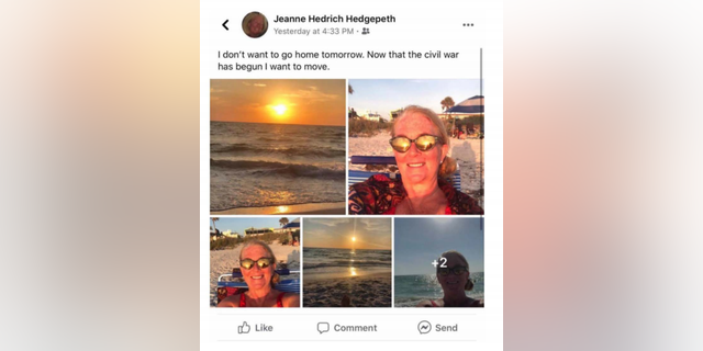 A post Hedgepeth wrote on Facebook while vacationing in Florida during the worst of Chicago's unrest on the weekend after George Floyd's killing in Minnesota.