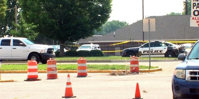 An Indiana police officer was shot and killed Wednesday near a federal building, authorities told Fox News.