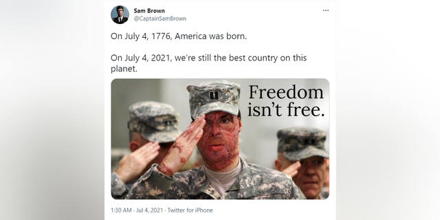 Army veteran, potential GOP Senate candidate, accuses Twitter of flagging July 4 post of his salute in uniform