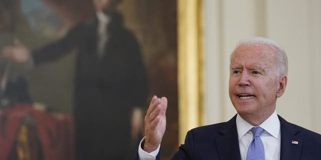 President Biden gets heated while answering a question from Fox News' Peter Doocy.
