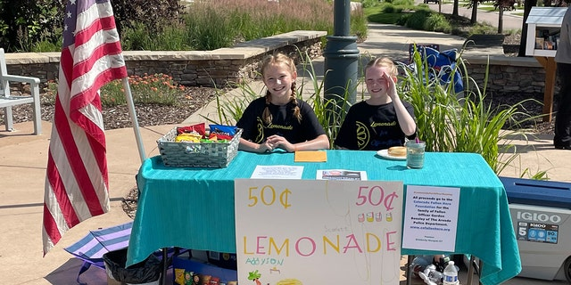 Scarlet Reust, 9, and Addyson Elliot, 10, in Commerce City, Colorado.
