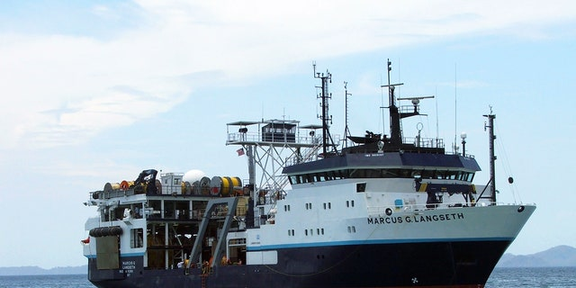 Research vessel (R/V) Marcus G. Langseth, operated by Lamont-Doherty Earth Observatory's Office of Marine Operations, can deploy several kilometers of cable to collect seismic data from beneath the seafloor.
