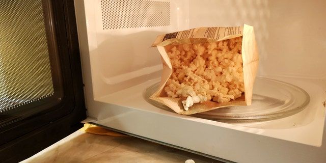 General Mills received the first patent for a microwave popcorn bags in 1981, according to History.com.