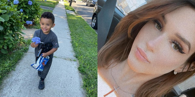 Sebastian Rios (left) was found safe in Tennessee not far from where his father, 27-year-old Tyler Rios was taken into custody. The boy's mother, 24-year-old Yasemin Uyar (right), was found dead in a wooded area nearby, family said.