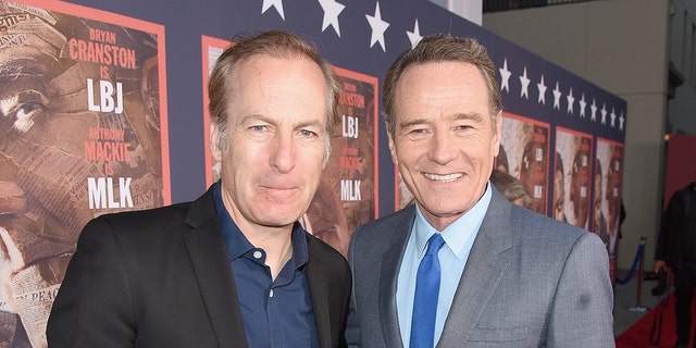 """Actors Bob Odenkirk (L) and Bryan Cranston (R) worked together on the series """"Breaking Bad."""""""