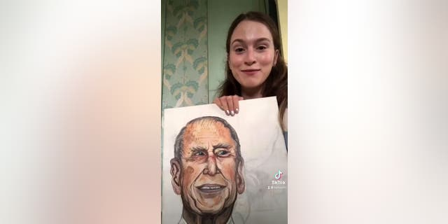 In TikTok videos Honor Morrison shared in May 2021, she explained she painted a portrait of Prince Philip, The Duke of Edinburgh, around the time of his funeral. The British royal died on April 9 and had a highly televised funeral service on April 17.
