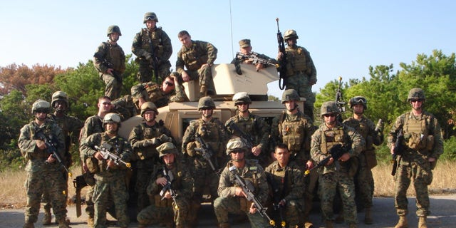Edwards' Embedded Training Team (ETT 7-3) during pre-deployment training for Afghanistan in the Fall of 2007 (Credit: Ty Edwards)
