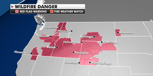 Where the wildfire risk is highest in the Northwest. (Fox News)