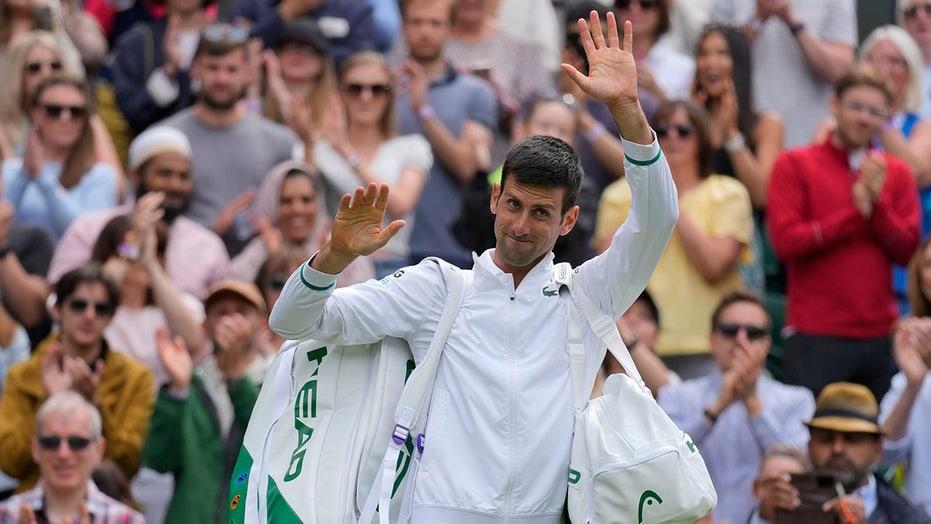 Djokovic wins at Wimbledon for 50th major quarterfinal berth