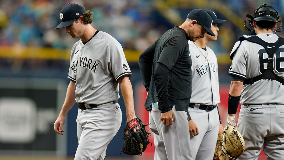 Patiño blanks Yanks as Rays pound Cole, bullpen in 14-0 rout