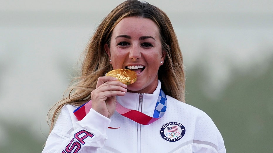 US Army Olympian Amber English takes home gold medal in skeet shooting