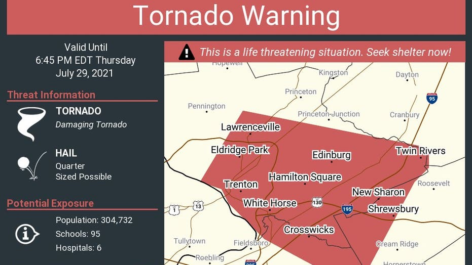 New Jersey, Pennsylvania see tornado as severe storms impact East Coast