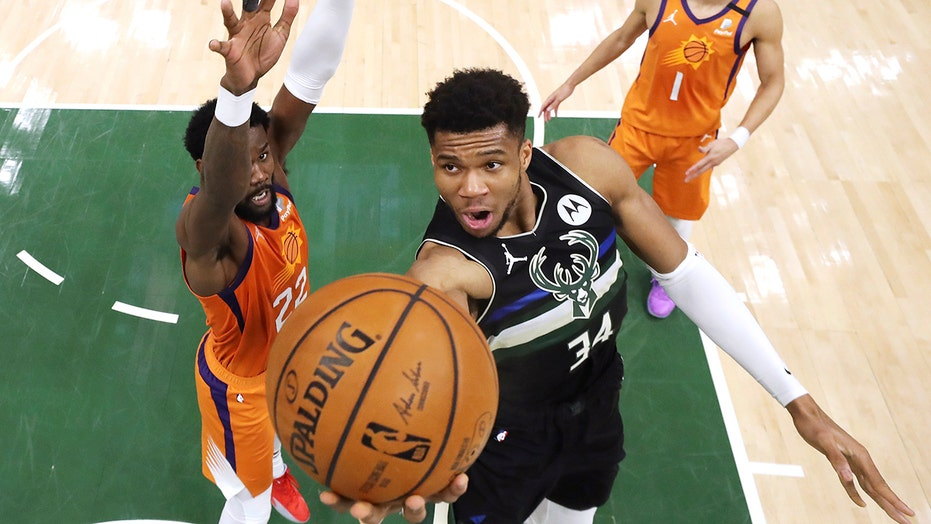 Giannis Antetokounmpo celebrates NBA title with Chick-fil-A run, photo ops with fans