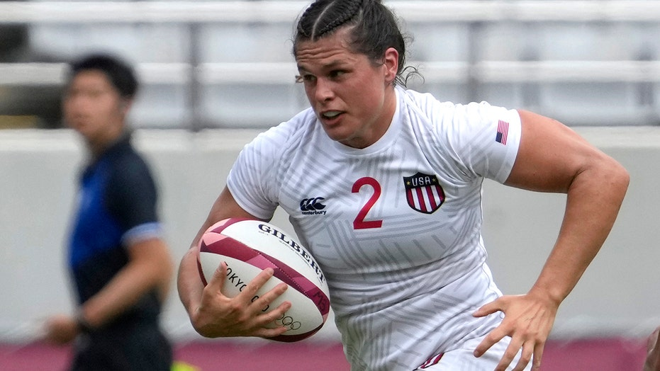 US rugby star Ilona Maher delivers brutal stiff-arm in Olympics matchup vs. Japan