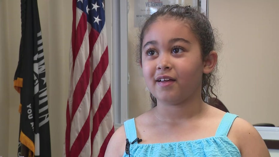 7-year-old girl helps raise money for homeless veterans: 'Help home first'