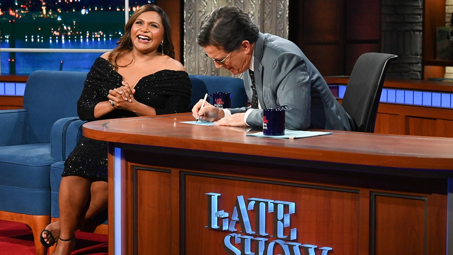 Mindy Kaling laughs off very awkward encounter with Stephen Colbert