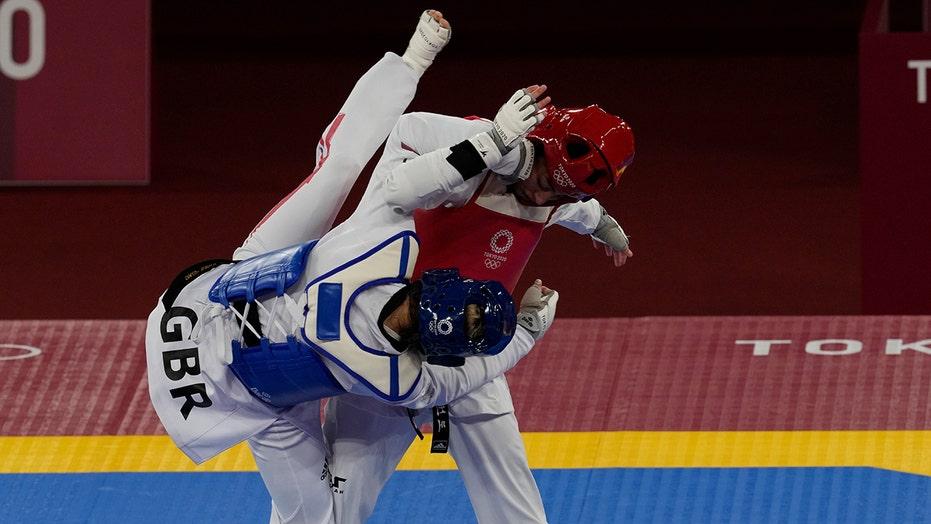 Iranian taekwondoka barely misses refugee team's 1st medal