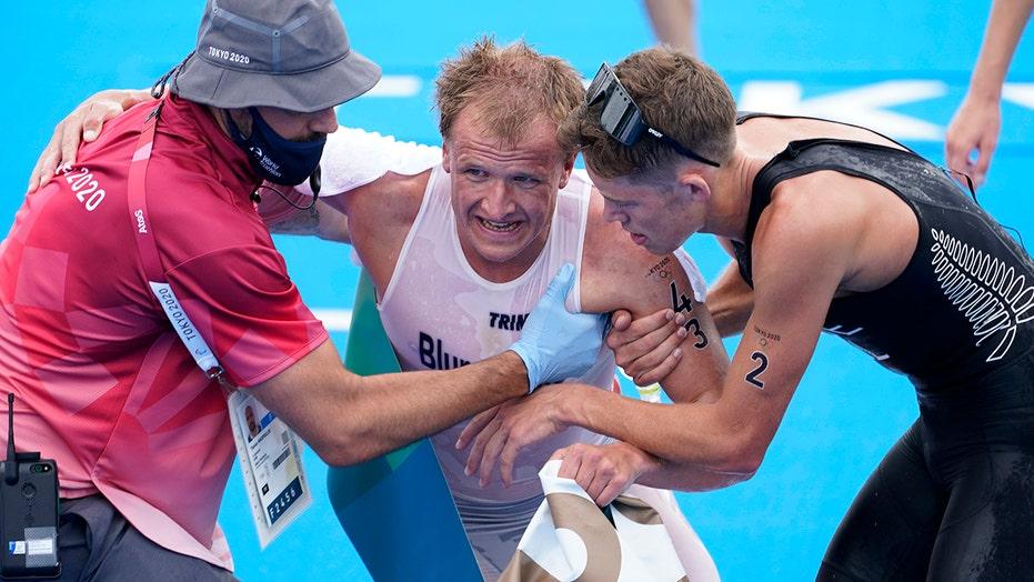 Tokyo Olympics triathlete Kristian Blummenfelt vomits, collapses after winning event