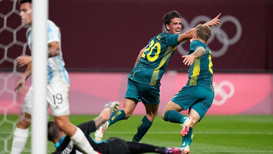 Australia shocks Argentina 2-0 in men's Olympic soccer