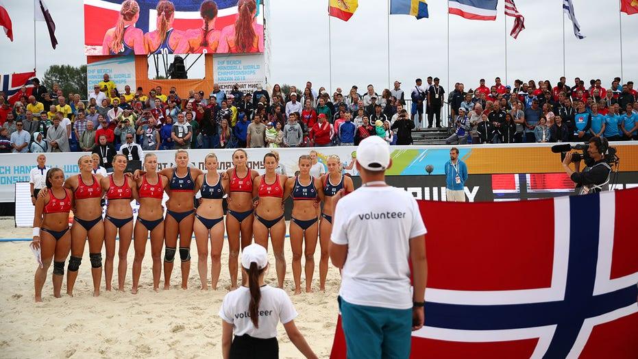 Handball team forced to wear bikini bottoms instead of boy shorts