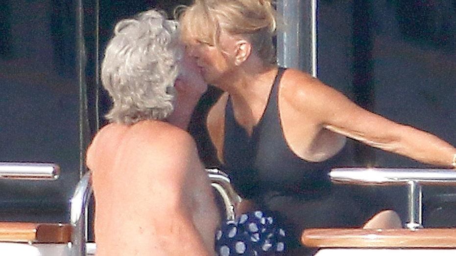 Goldie Hawn and Kurt Russell smooch during romantic getaway in Saint-Tropez