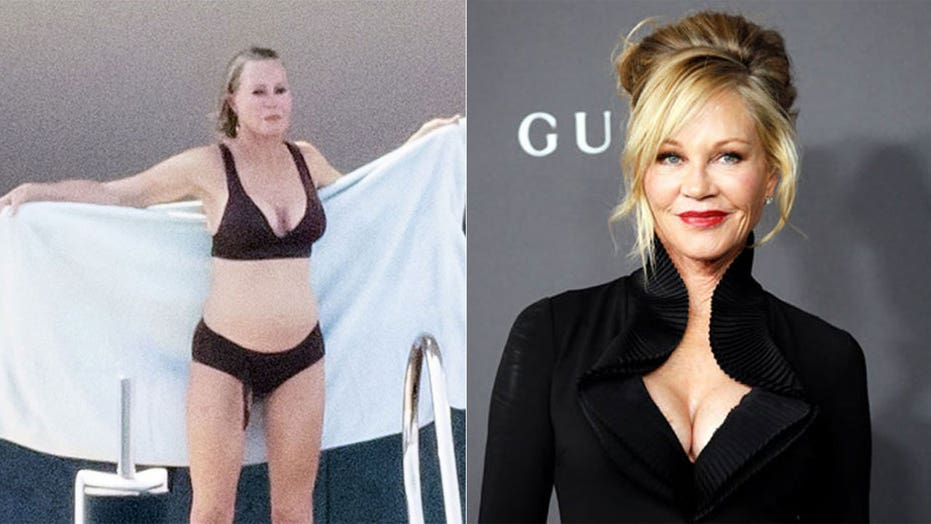 Melanie Griffith, 63, soaks up some sun in black bikini while on Italian vacation