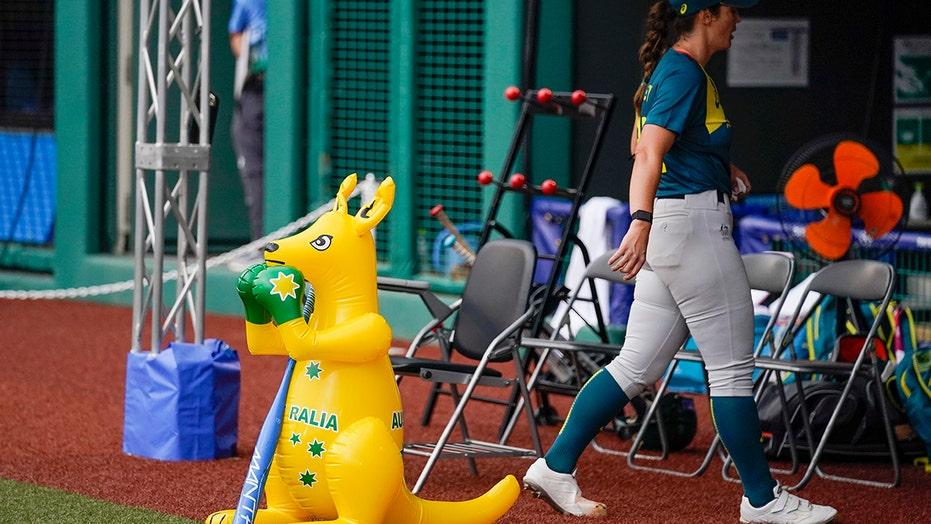 Skippy, inflatable kangaroo, an Australia softball fixture