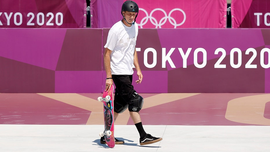 Tony Hawk drops in on Olympic skateboarding course: 'I'm here for it'