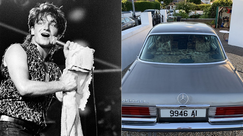 Bono's crazy cowhide-upholstered Mercedes-Benz up for auction