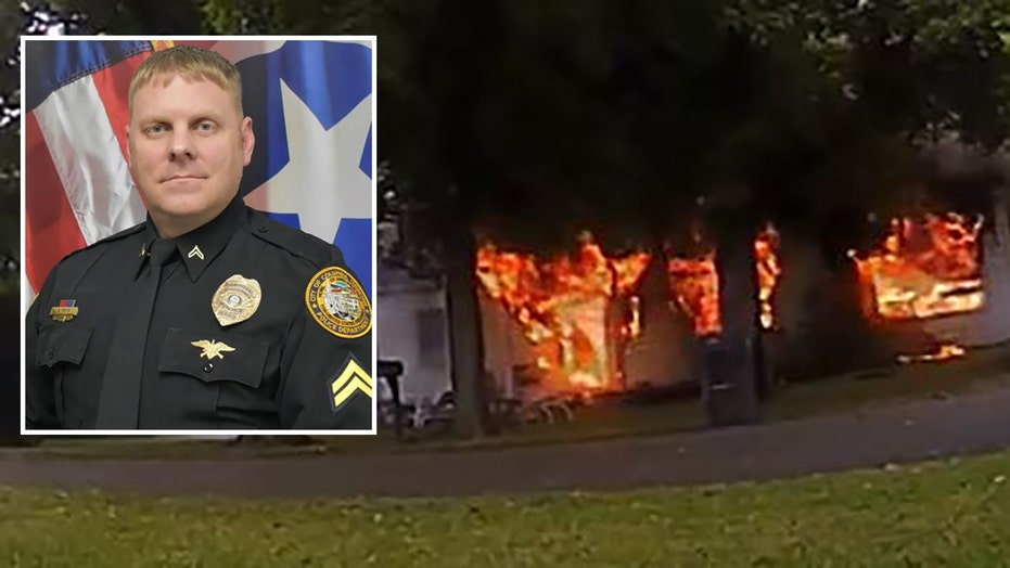 Cop runs into explosive house fire to rescue disabled woman, bodycam video shows