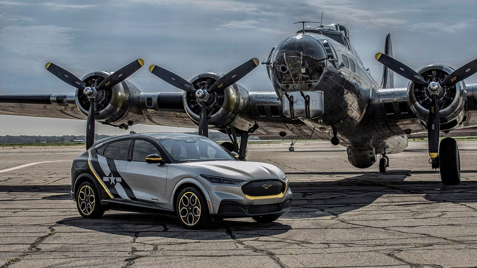 Ford salutes WWII Women Airforce Service Pilots with custom Mustang Mach-E at Oshkosh air show