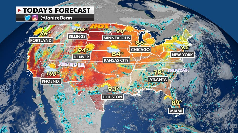 Flash flooding possible for Southeast, Southern Plains; heat wave continues in Northwest