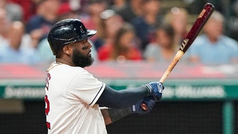 Reyes homers, drives in 5 runs, Indians rout Angels 9-1