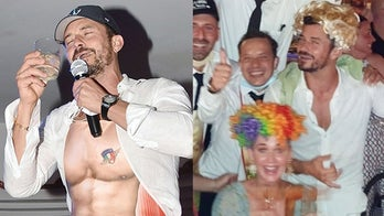 Katy Perry, Orlando Bloom enjoy rowdy party in goofy costumes during night out in Italy