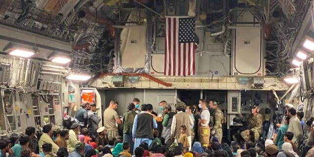 A 315th Airlift Wing aircrew from Joint Base Charleston, South Carolina helped to deliver a baby aboard a C-17 Globemaster III carrying vulnerable Afghans evacuated from Afghanistan, ago. 23, moments before landing at a Middle East staging area. (NOSOTROS. Air Force courtesy photo)