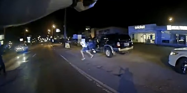 Bodycam footage published Wednesday shows the moment three Nashville police officers shot and killed a suspect who charged toward them while wielding a knife. (Nashville Metro Police Department YouTube video)